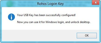 Logon key successfully created