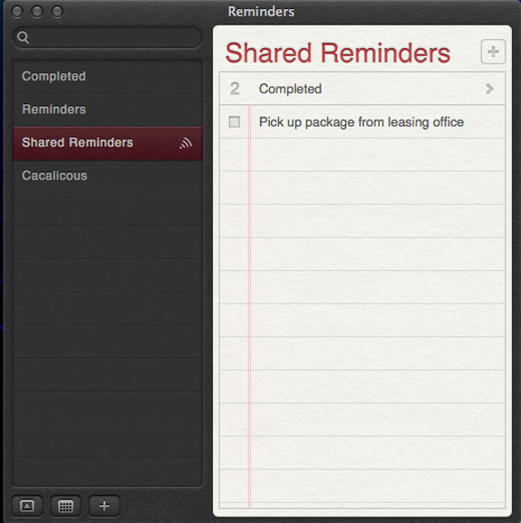 SharedReminders-List