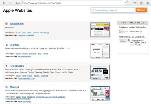 Websiteslike-for-apple