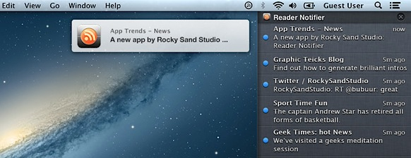 Reader Notifier - RSS Notifications in Notification Center on Mac