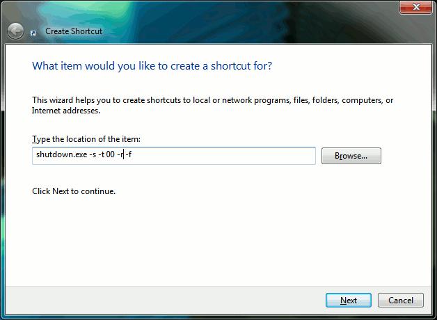 Windows shortcut to force shutdown