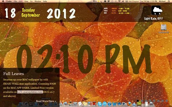 Smart Wall desktop wallpaper after customization.