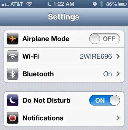 Disturb-Settings