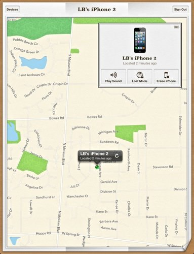 Find My iPhone Maps