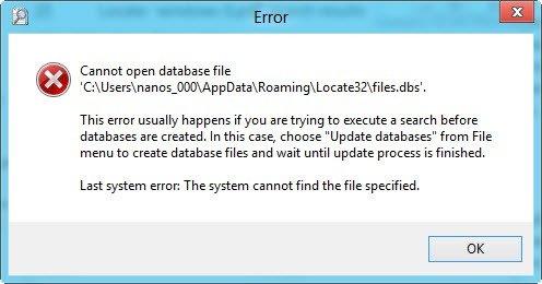 Locate32 error