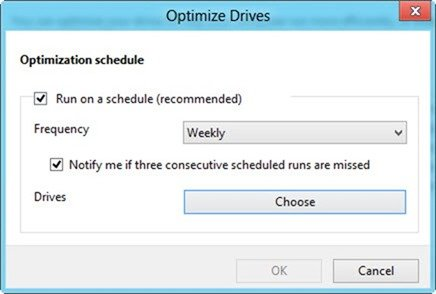 Optimize drives options