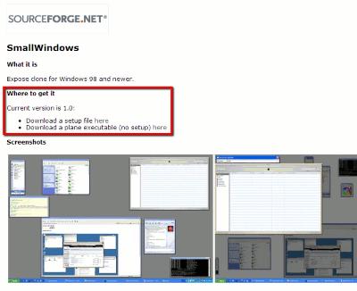 SmallWindows-developers-website