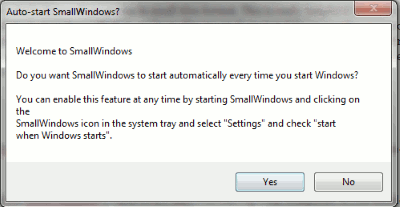 SmallWindows-welcome-message