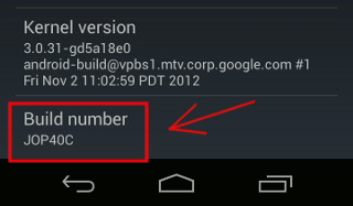 android-build-number
