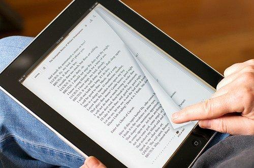 reading on an iPad
