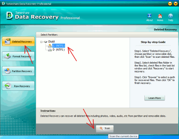 data-recovery-start-scanning