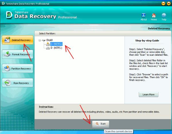 data-recovery-start-scanning