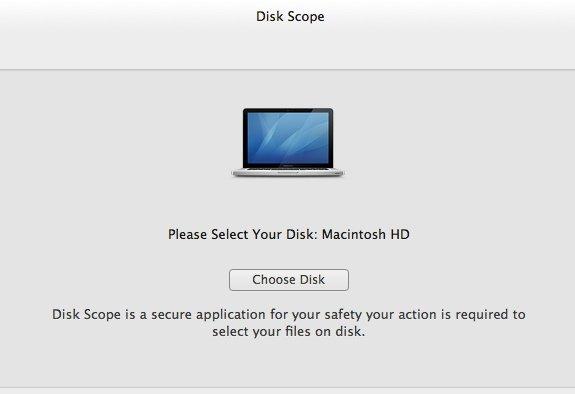 Choose your disk - Disk Scope.