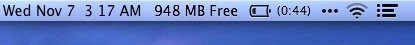 View your available free memory on your Mac menu bar.
