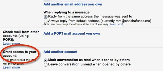 Grant access to your Gmail account in settings.
