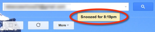 Email snooze time.