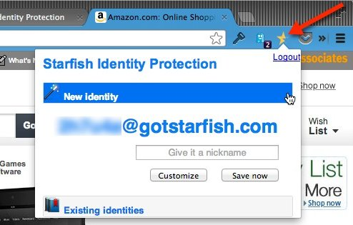 Create a new identity on Starfish.