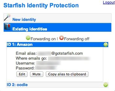 View and edit your existing identities on Starfish.