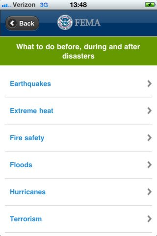 FEMA app for iOS