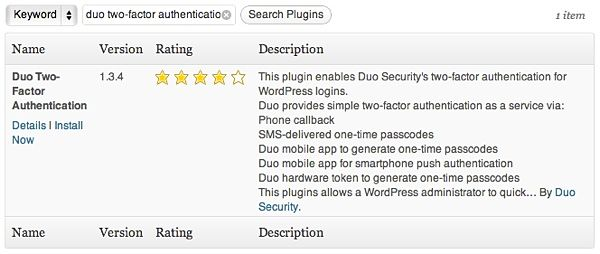 Install the Two-Factor Authentication WordPress plugin.