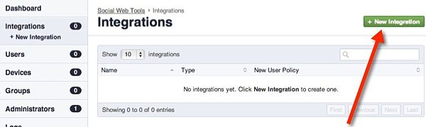 Create a New Integration on the Duo Security website.