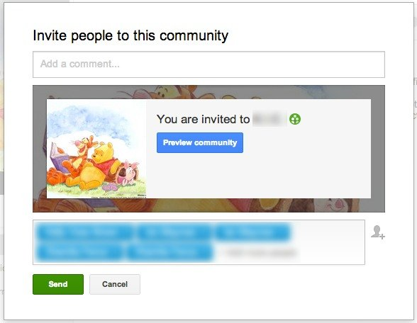 Invite people to your Google+ community.