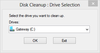 Select the drive you want to clean up using disk cleanup.