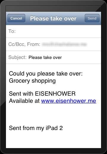 Delegate tasks in Eisenhower.