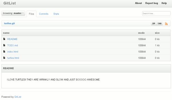 gitlist-interface