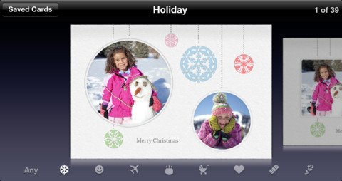 Greeting cards on iOS