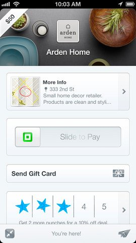 Square wallet greeting card