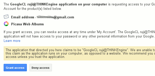 googlecl-grant-access