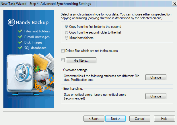handybackup-select-synchronize-action