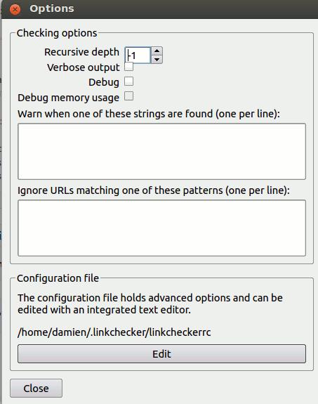 linkchecker-options