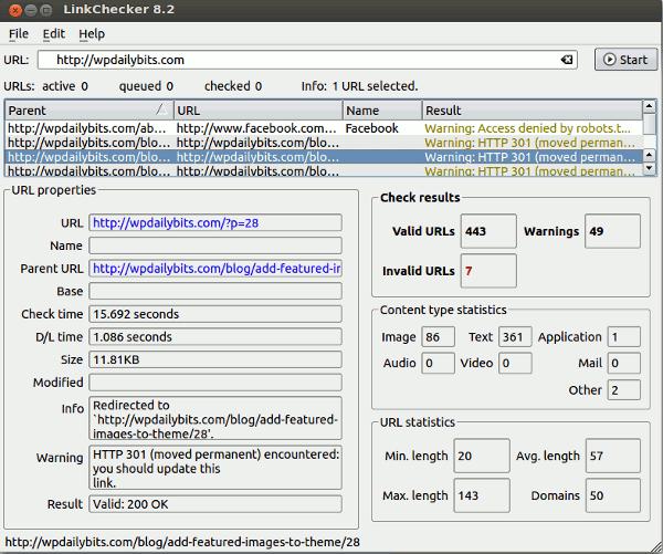 linkchecker-scan-result
