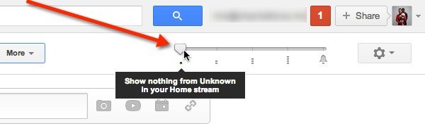 Use the slider to mute a Google+ Circle posts from your Home stream.