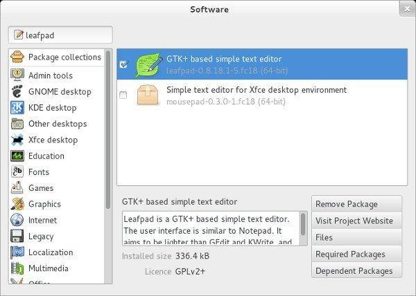 Leafpad-install
