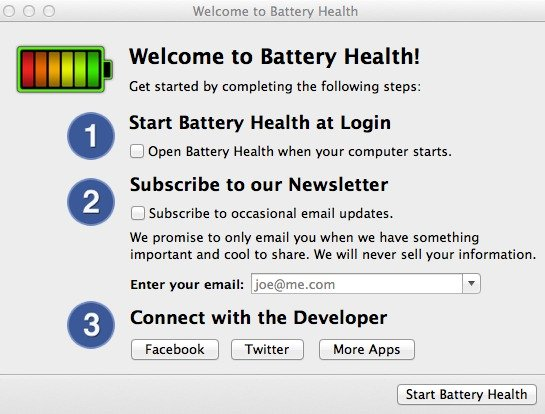 Welcome to Battery Health for Mac