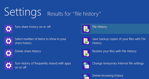 Create Regular Backups Using Windows 8 Native File History
