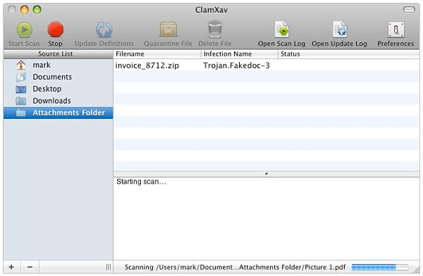 ClamXav Antivirus for Mac