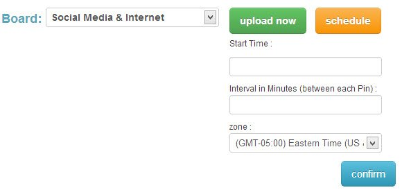 Customize your pin schedule on Pingraphy.