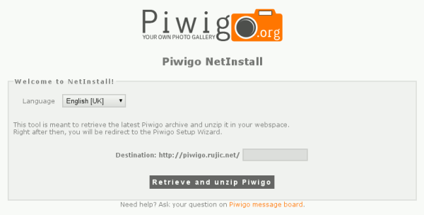 piwigo-netinstall