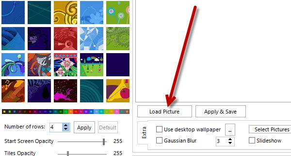 Click on the Load Picture button to upload an image from your PC.