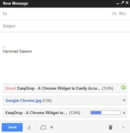 Cloudy Attachment GMail