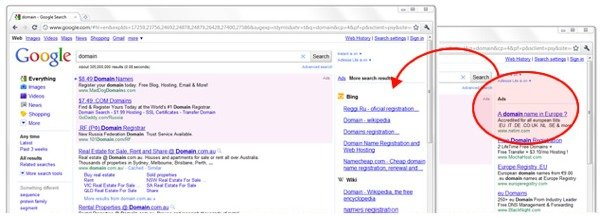Adlesse in action on Google.