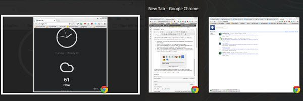 The Alt+Tab Switcher with large thumbnails.