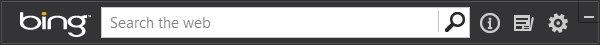 The Bing search bar on the Windows desktop.