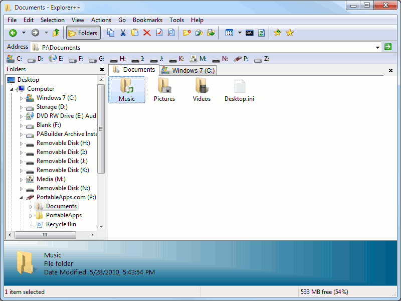 Windows Explorer Alternatives - explorer++