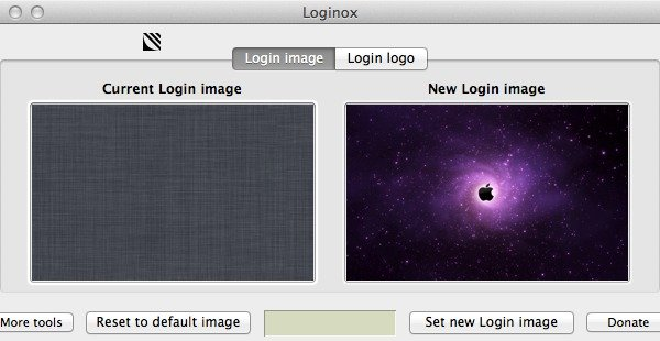 Click on the Set new Login image button to save your new image.