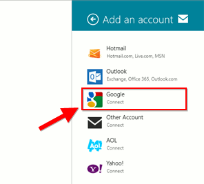 Integrate Google Apps to Windows8-add-mail-account
